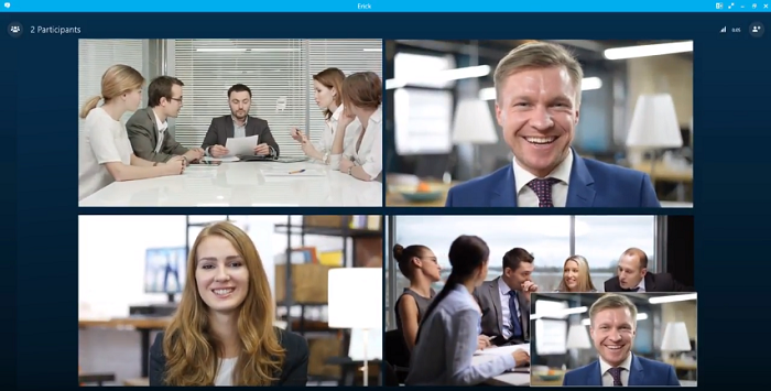 aver video conference họp với skype for business 2
