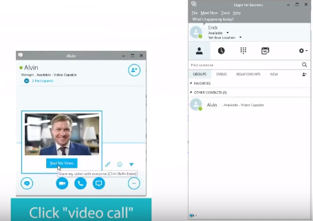 aver video conference họp với skype for business 1